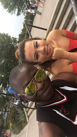 My friend Oyebola and I!